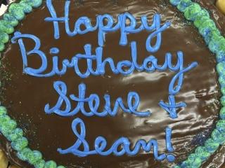 Happy Birthday Donut Cake